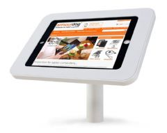 armourdog® LocPad anti-theft tablet kiosk with 45° desk / wall mount